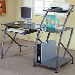Buy Low Price Comfortable Desks Contemporary Single Pedestal Computer Desk by Coaster (B0051PEEUQ)