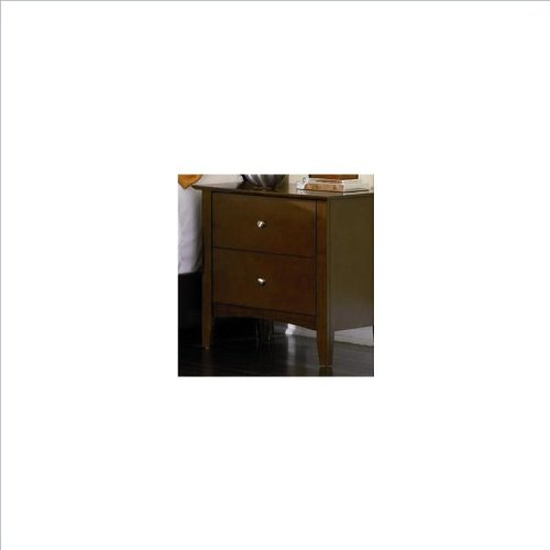 Coaster Home Furnishings 201152 Casual Contemporary Nightstand, Walnut front-941781