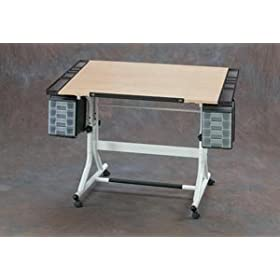 Alvin CM48-4-WB CraftMaster II Creative     Center Hobby Station Craft Table