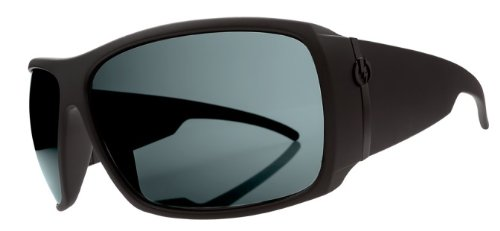 Electric Visual Big Beat Sunglasses - Electric Visual Men'S Polarized Sports Eyewear - Matte Black/Melanin Grey / One Size Fits All