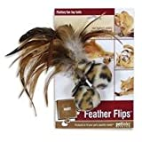 Petlinks Feather Flips Feathery Plush Ball, 2-Pack