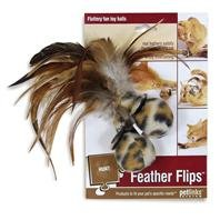 Image of Petlinks Feather Flips Cat Toy Feathery Plush Balls, 2 Pack
