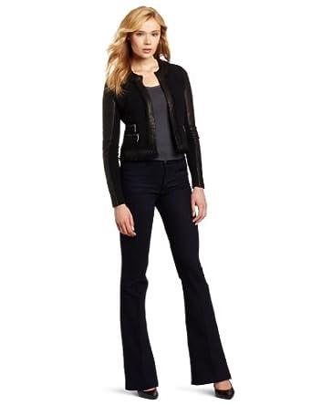 Rebecca Taylor Women's Tweed Jacket, Black, 0
