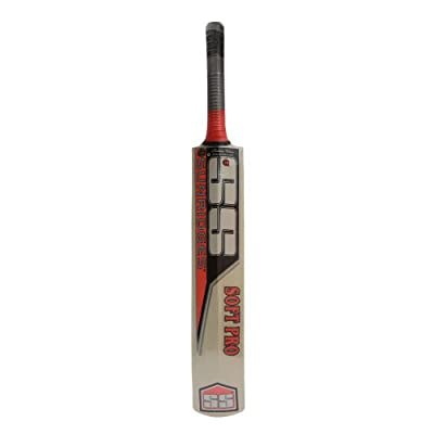 SS Soft Pro II Kashmir Willow Cricket Bat, Short Handle