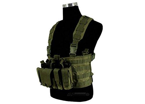 CONDOR(コンドル) タクティカルギア MCR5 リーコンチェストリグ(ポーチ3個・ポケット4個) OD