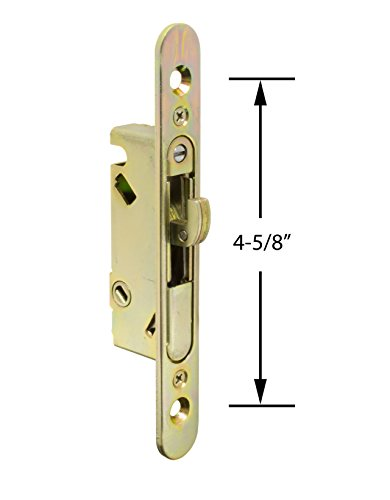 FPL #3-45-S Sliding Glass Door Replacement Mortise Lock with Adapter Plate, 4-5/8
