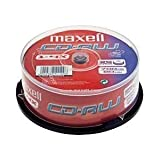25 MAXELL CD-RW RE-RECORDABLE DISCS 1-4X 700mb 80mins SPINDLEby Maxell