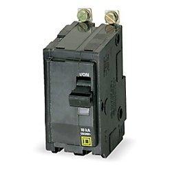 Square D Qob250 Miniature Circuit Breaker (Qob) Standard, 50A, 2-Pole, 120/240 Vac, 1-Phase, 10Ka