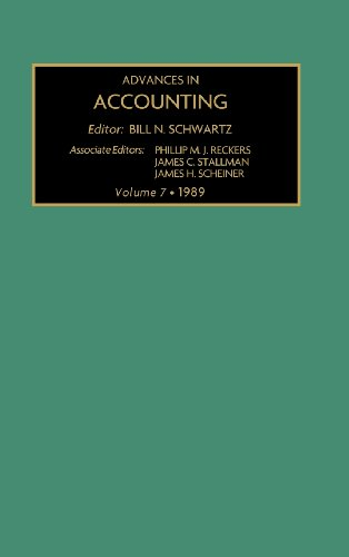 Advances in Accounting: Volume 7, 1989,  A Research Annual (Advances in Accounting No. 1)