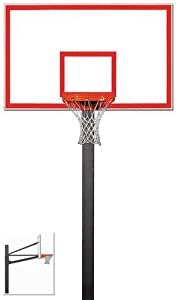 Gared Endurance Fixed Height Basketball Hoop with 72 Steel Backboard by Gared