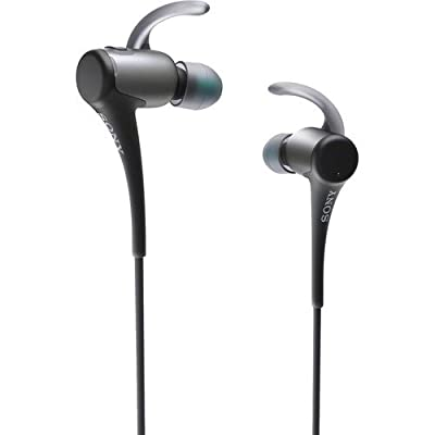 Sony Bluetooth Premium Active Sport Series Lightweight Extra Bass Noise-Cancelling Earbud Headphones for Apple Iphone/Android Smartphone (Black)