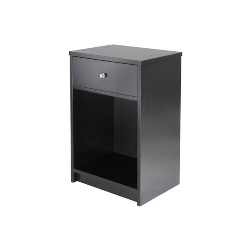 Big Save! Winsome Squamish Accent Table with 1-Drawer, Black Finish