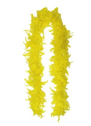 eFuture(TM) Yellow Princess Tea Party Costume Feather Boa with Keyring