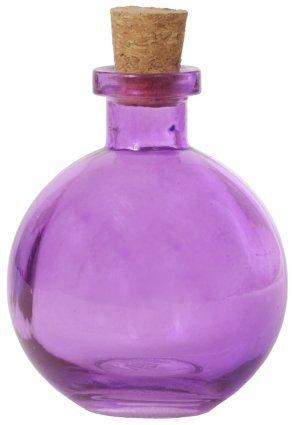 8.8 oz. Purple Ball Glass Bottle