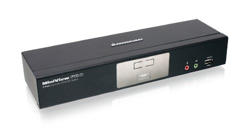 IOGEAR 2-Port Dual-Link DVI KVMP Pro with 7.1 Audio GCS1782G (Black)
