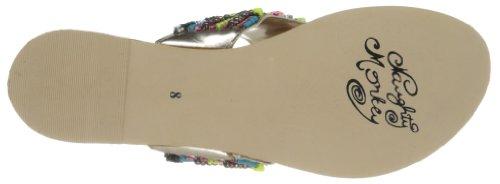 Naughty Monkey Women's Electric Bubble Sandal,Lime,7.5 M US