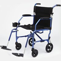 Medline Freedom Transport Chairs, Blue
