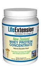 Life Extension New Zealand Whey Protein, Natural Chocolate, 520 Gram