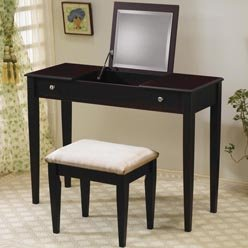 Vanity Table - Flip Top Vanity - vanity; wood vanity table; makeup vanity table