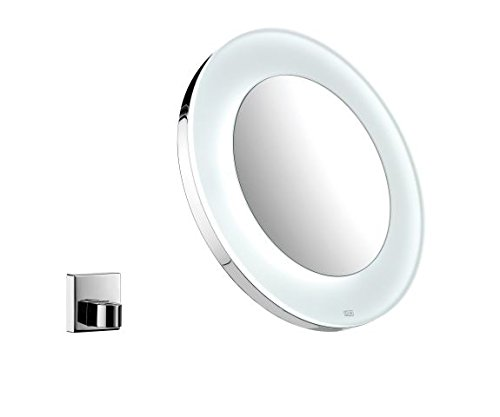 Emco 109600113 LED Battery Cosmetics Mirror Round Chrome