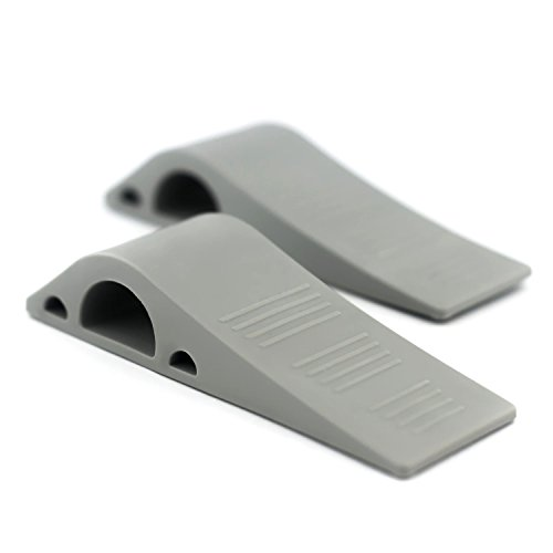Door stopper 2 pack non skid rubber wedge modern design doorstop non slip door stoppers - Door stoppers rubber ...