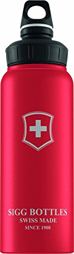 Sigg Wide Mouth Swiss Emblem Water Bottle (Red Touch , 1.0-Litre) front-957488