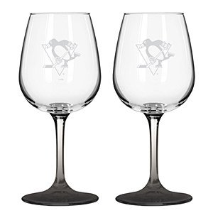 12.75 Oz NHL Pittsburgh Penguins Wine Glass