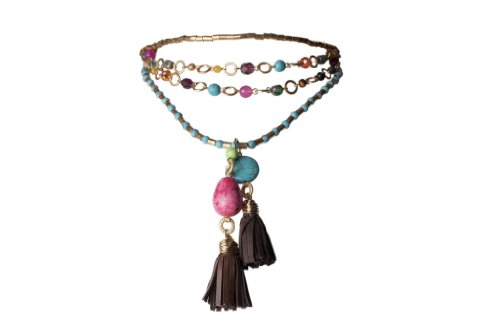 Jenny Rabell Short Leather Necklace, Various
