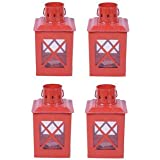 Sutra Décor Tealight Hut Candle Holder Lantern Set4 - B01FJY3BL6