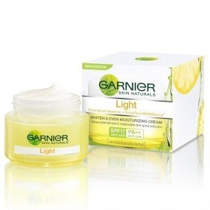 spf lite Discount Garnier Skin Naturals Light Whiten and Even Moisturizing Day Cream 50 ml
