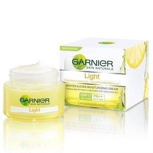 spf lite Discount Garnier Skin Naturals Light Whiten and Even Moisturizing Day Cream 50 ml