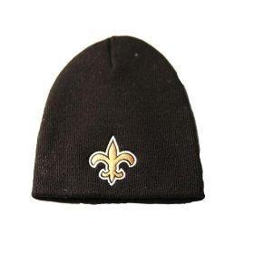 NFL Official Licensed New Orleans Saints Beanie Knit Hat CAP Classic Black with Saints Emblem