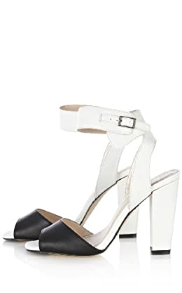 Black and White Color Block Sandal