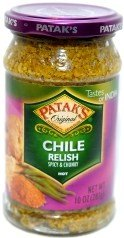 Pataks Original Chile Relish - Spicy Chunky Hot - 10oz by Patak's