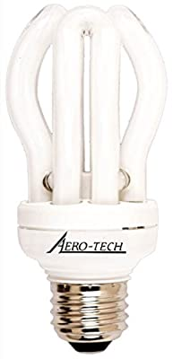 Aero-Tech 5000K Energy Saving Evolution Compact Fluorescent Bulb with Medium Base, Full Spectrum