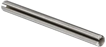 420 Stainless Steel Spring Pin, Passivated Finish, Slotted, Meets ASME B18.8.2, Inch, Made in US