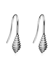M&S Collection Finest Sterling Silver Spiral Drop Earrings