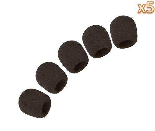 Niceeshop(Tm) 5 Pack Microphone Ball-Type Sponge Windscreen / Foam Cover -Black