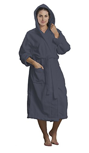 Unisex Hooded adult Robes, Cover Ups, Small Medium, Charcoal (Hooded Terry Cloth Robe For Women compare prices)