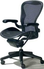 Herman Miller(R) Aeron(R) Chair Highly Adjustable Model with Graphite Frame Classic Platinum C