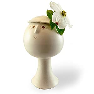"""Blossom"" - Flower Girl Single Bud Vase in Handsculpted Porcelain"
