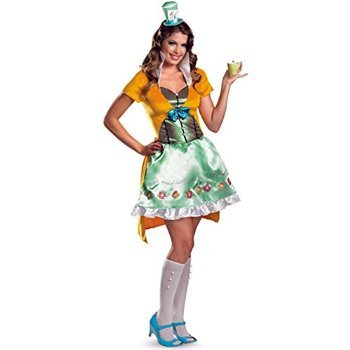 Mad Hatter Sassy Costume - Large - Dress Size 12-14