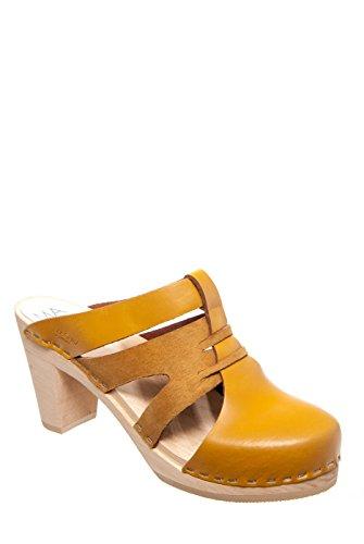 Maguba Paris High Heel Clog - Natural Yellow