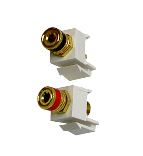 Vanco 824111 Binding Post Keystone Inserts, 1 Pair, Almond
