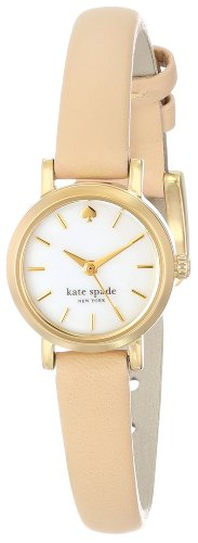 Kate Spade New York Women's Tiny Metro - 1YRU0372 Gold-Tone Watch with Leather Band