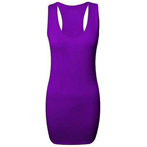 dreamzandjoyz -  T-shirt - Senza maniche  - Donna Purple 41 EU