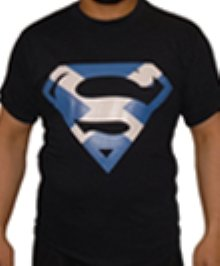 SCOTLAND SALTIRE SUPERMAN T SHIRT (XXL)