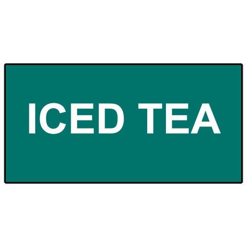 Compliancesigns Engraved Plastic Catering Sign, 6 X 3 Green