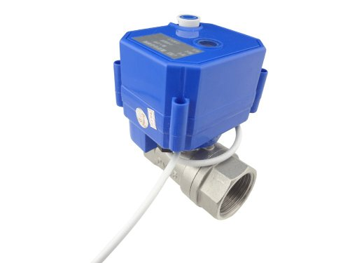 """Misol Motorized Ball Valve 1""""(Bsp) Dn25 / 12Vdc / 2 Way / Electrical Valve / Ball Valve With Acuator / Reduce Port / Cr01 / Stainless Steel / With Manual Switch"""