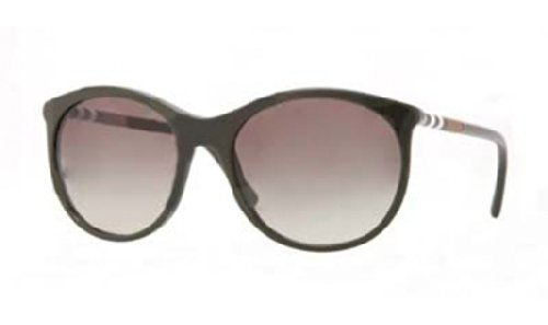 Burberry  Burberry BE4145 Sunglasses-33928E Dark Green (Green Gradient Lens)-55mm